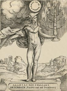 Mercury with candelabra