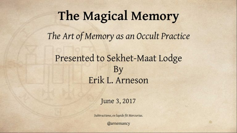 The Magical Memory