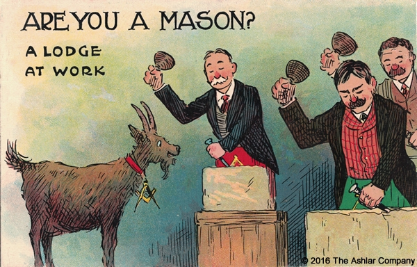An old Masonic postcard