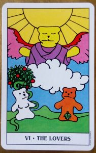 The Lovers from the Gummy Bear Tarot