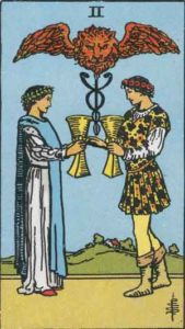 Two of Cups in the Rider-Waite-Smith