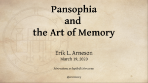 Pansophia and the Art of Memory