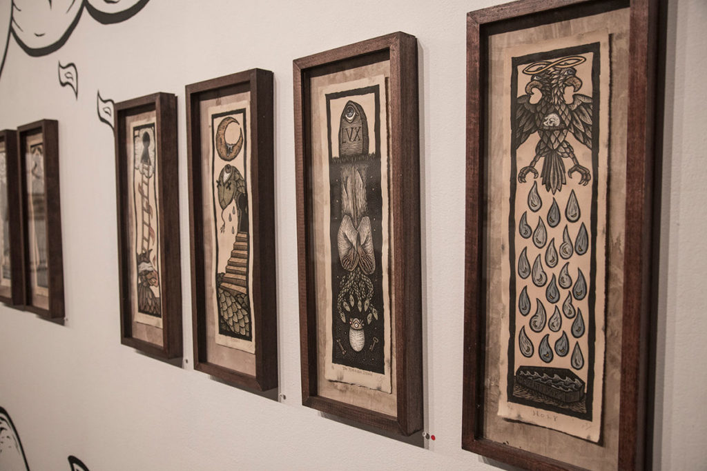 Travis Lawrence's artwork on display