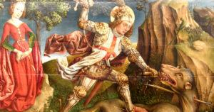 Jost Haller - Saint George slaying the dragon, Unterlinden Museum, Colmar