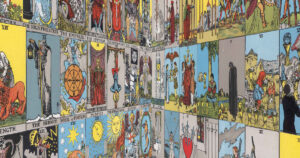 Tarot cards with perspective