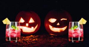 Pumpkins with cocktails